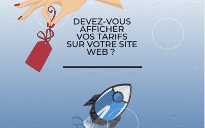 Devez-vous afficher vos tarifs sur votre site web ?