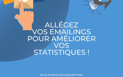 Allégez vos emailings pour améliorer vos statistiques !