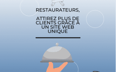 Restaurateurs, attirez plus de clients grâce à un site web unique !